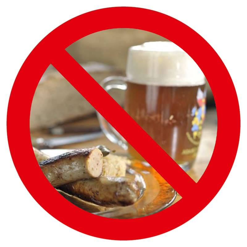 no bratwurst and beer